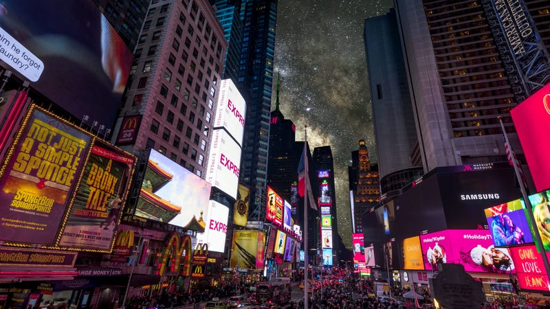 What Times Square might look like if you could actually see the stars.