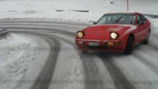 Snow Drifting The Shittiest Porsche