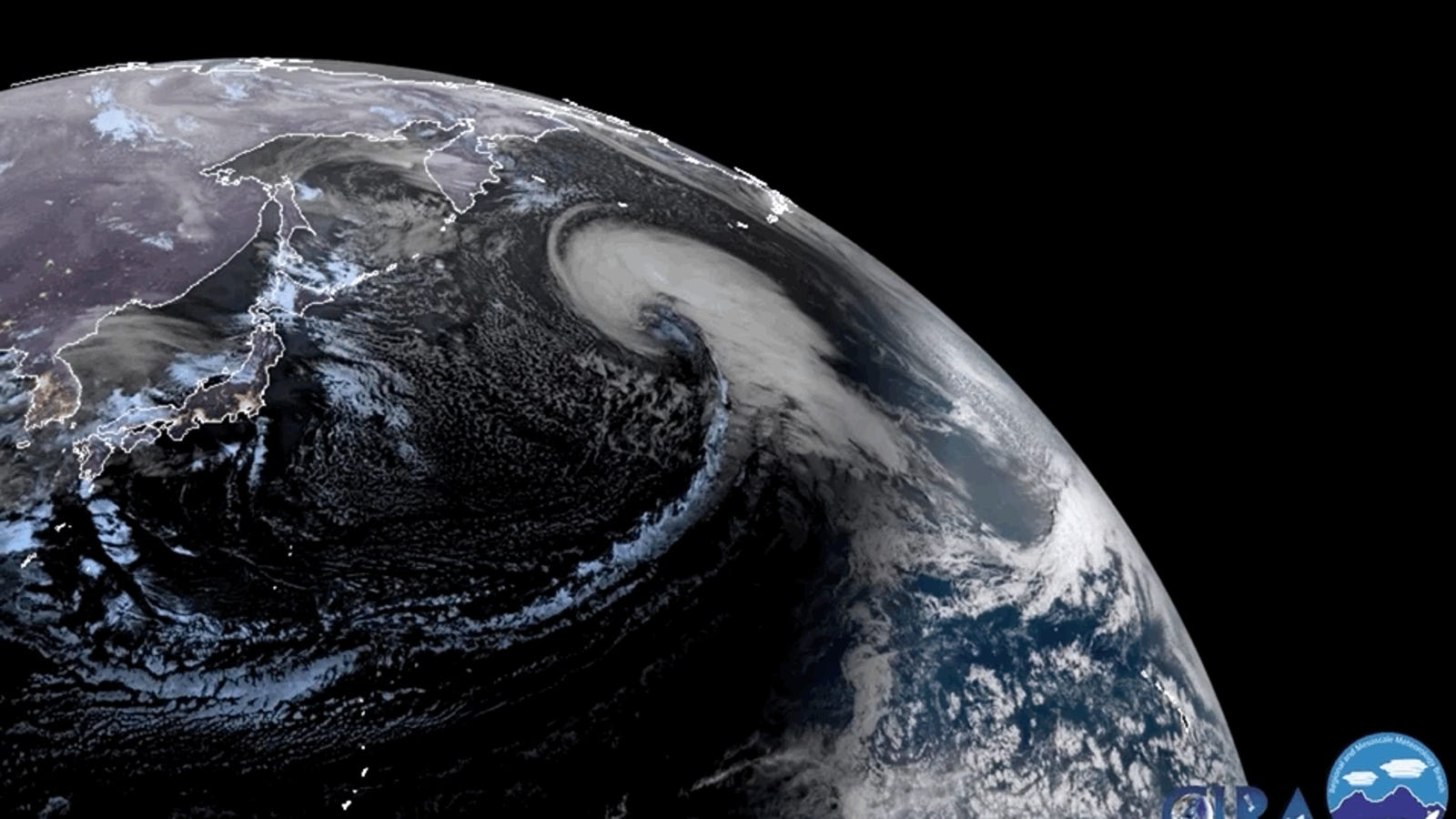 Gaze Into the Giant Storm Swirling Over the Pacific Ocean