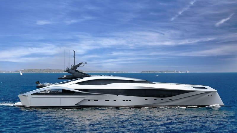 die $ 3.500.000 bugatti boat ist ein dingy in der palmer johnson lineup