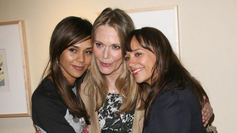 "Kidada Jones, Peggy Lipton and Rashida Jones attend ""The Art of Pooh"" at the Evidence Gallery on April 4, 2008 in Los Angeles, California."