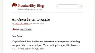Illustration for article titled Readability App Becomes Victim of Apple's Dumb Subscription Policy