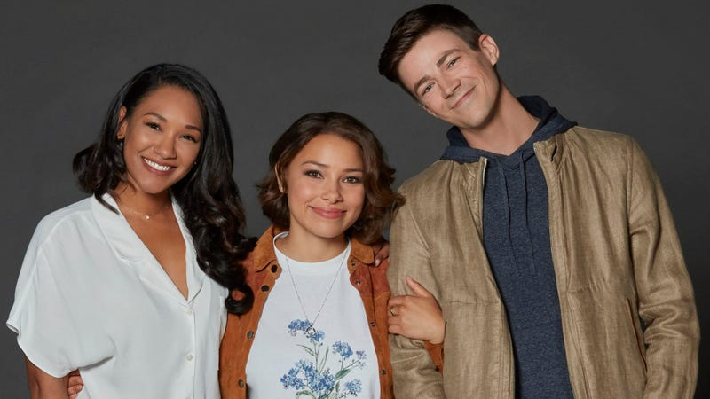 Candice Patton, Jessica Parker Kennedy, and Grant Gustin