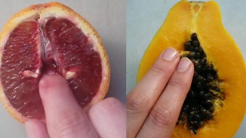 Illustration for article titled Read This: An artist is creating explicit fruit porn on Instagram now