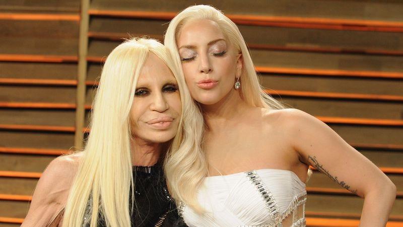 Donatella Versace and Lady Gaga (Photo: Jon Kopaloff/Getty Images)