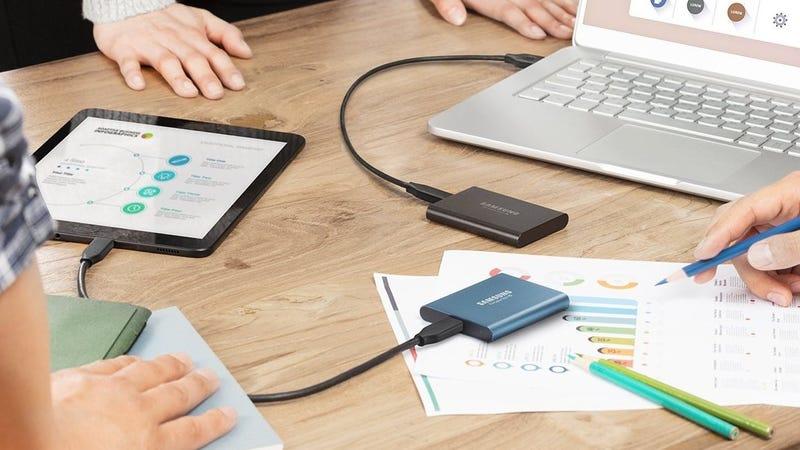 Samsung 500GB Portable SSD | $98 | AmazonSamsung 1TB Portable SSD | $178 | Amazon