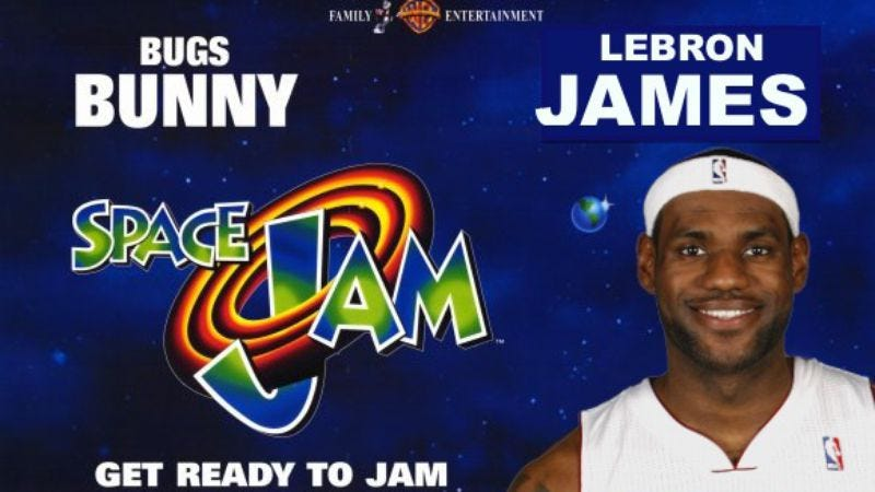 Illustration for article titled UPDATED: It's not a dream, there's going to be a Space Jam sequel (maybe) starring LeBron James