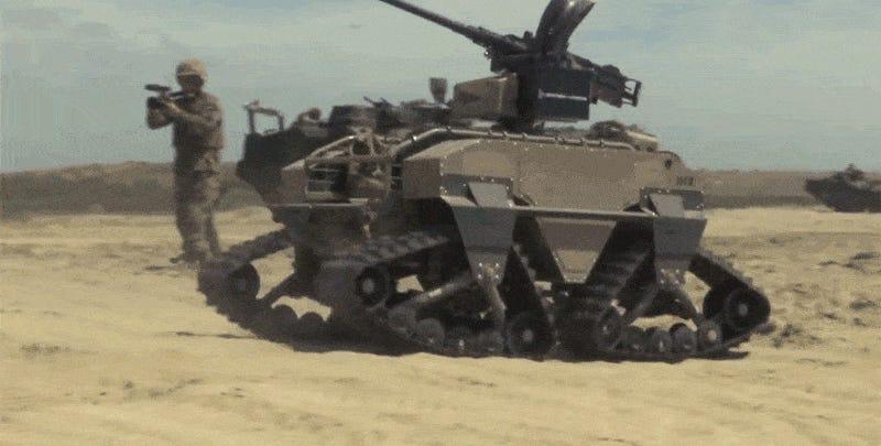 machine gun robots
