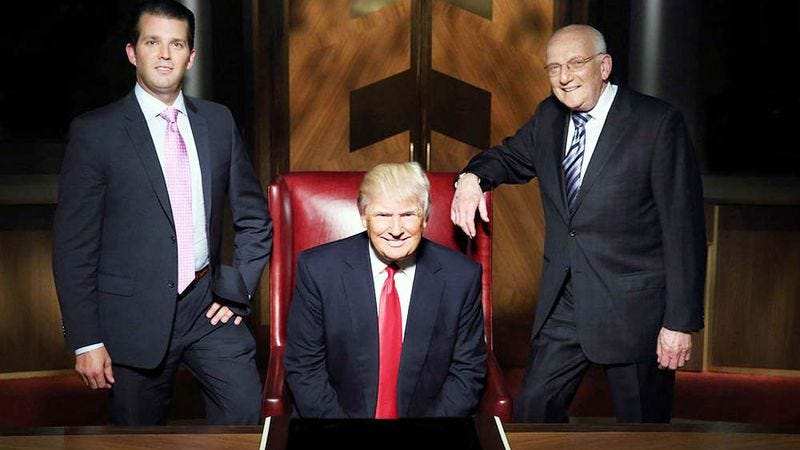 Illustration for article titled Donald Trump is basically still hosting The Apprentice