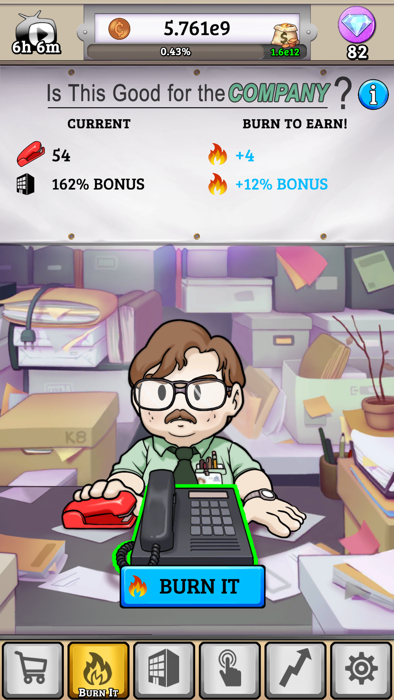 Illustration for article titled There is an Office Space mobile game