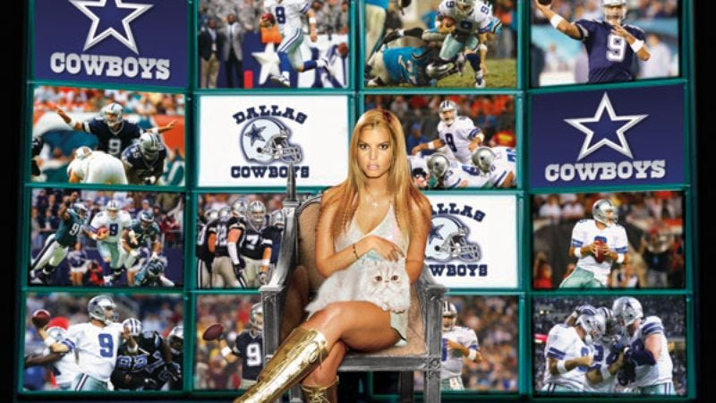 Illustration for article titled Jessica Simpson Completes Elaborate Plan To Destroy Cowboys' Season