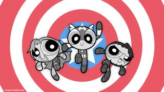 Illustration for article titled Powerpuff Girls and the Avengers combine to save the world (or just be adorable)
