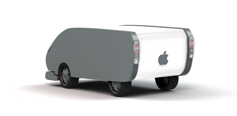 Render credit Jason Torchinsky, and probably not the real Apple Car. Probably.