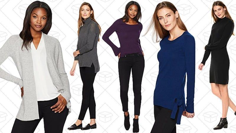 Lark & Ro Cashmere Sweaters | $49-$81 | Amazon