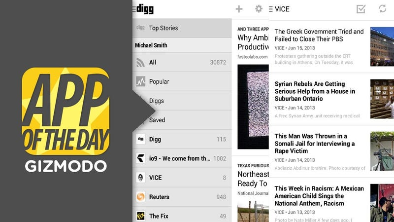Illustration for article titled Digg for Android Is Finally Here: Get Your Read On a Million Ways