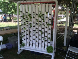 A Robotic Vertical Garden You Can Build With Hardware Store Materials