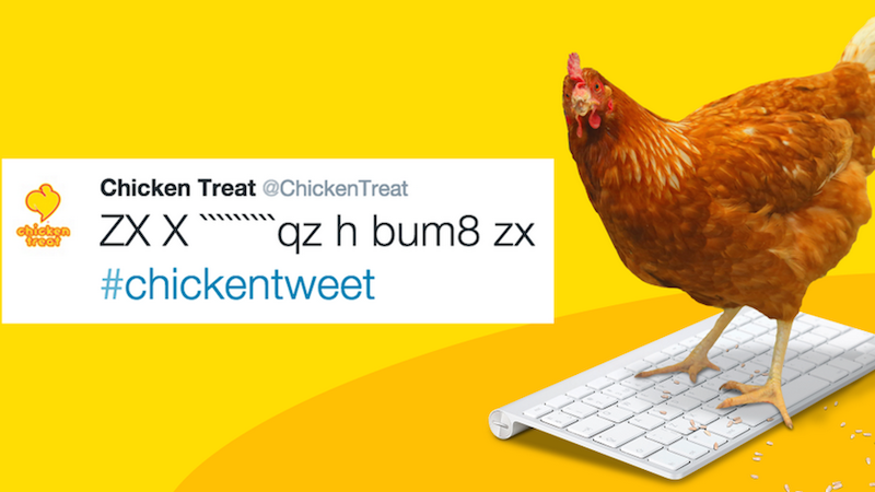 Illustration for article titled This Chicken Can Tweet Better Than Most People