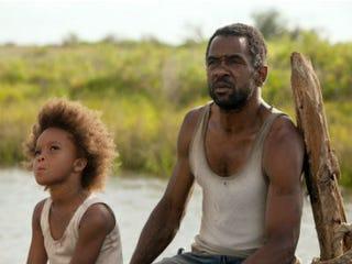 Quvenzhané Wallis (Hushpuppy) and Dwight Henry (Wink) (Jess Pinkham)