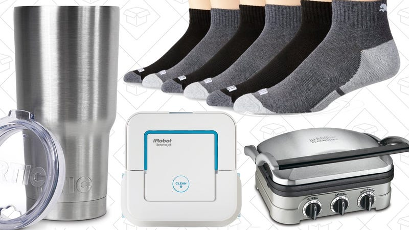 Illustration for article titled Today's Best Deals: $12 Tumbler, PUMA Gear, Cuisinart Griddler, and More