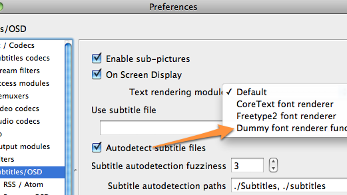Disable Constant Font Cache Rebuilding in VLC