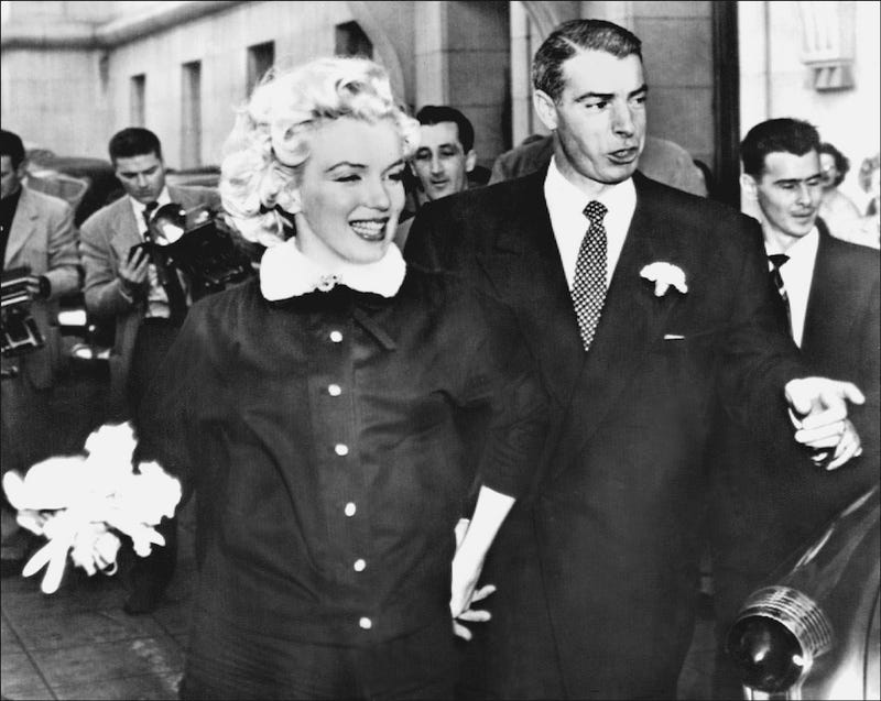 Sixty Years Ago Today Joe Dimaggio Married His Friend Of Two Marilyn Monroe Here The Hy Are Seen Leaving San Francisco S City Hall