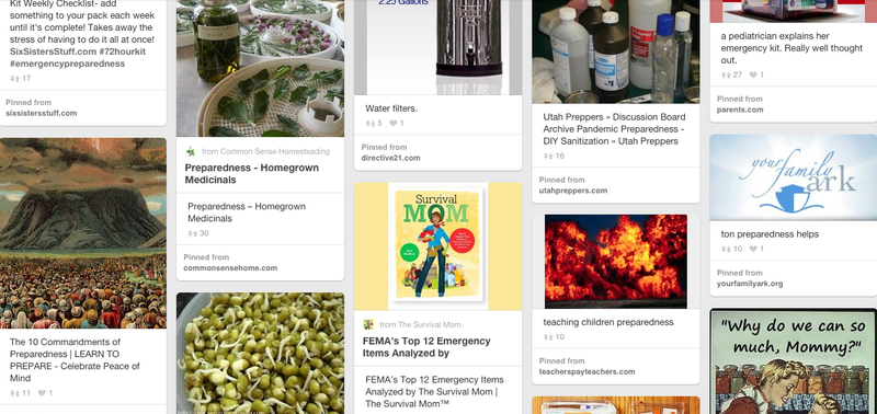 Illustration for article titled Mormon Doomsday Survivalist Preppers Are All Over Pinterest