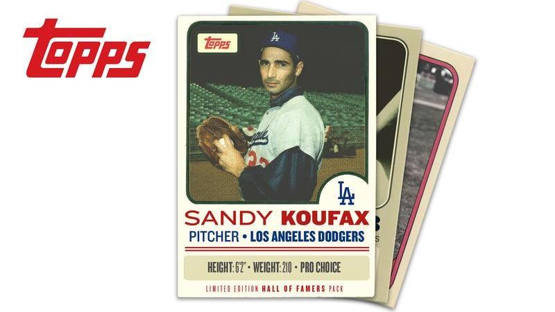 Sandy Koufax's pro-choice baseball card.