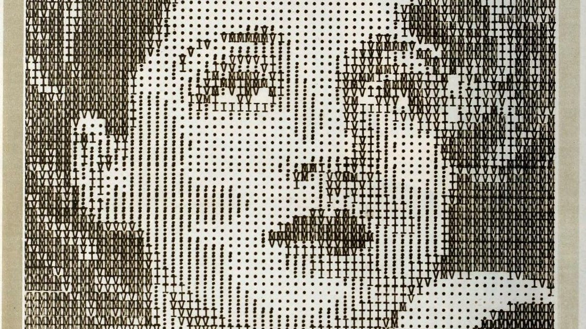 One Line Ascii Art Joint : The typewriter ascii portraits of classic hollywood and