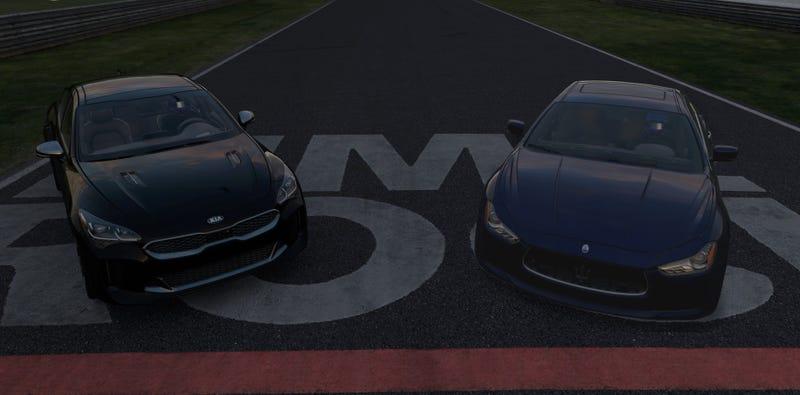 Illustration for article titled Kia Stinger vs. Maserati Ghibli - The Oppo-Forza Comparison