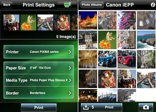 new canon iphone app prints wirelessly to your pixma