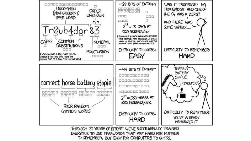 Illustration for article titled Xkcd Password Generator Creates Long, Easy-to-Remember Passwords