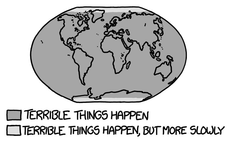 Illustration for article titled XKCD's Creator Explains What Would Happen If Earth Stopped Spinning