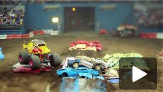 Illustration for article titled Amazing Tilt-Shift Video From Monster Truck Rally