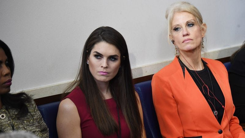 Illustration for article titled Hope Hicks Praying She Not Still In Same Shitty Job By Time She Hits 30