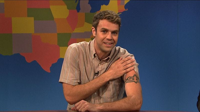 """Illustration for article titled SNL'sBrooks Wheelan made one of those """"second a day"""" videos, and it's great"""