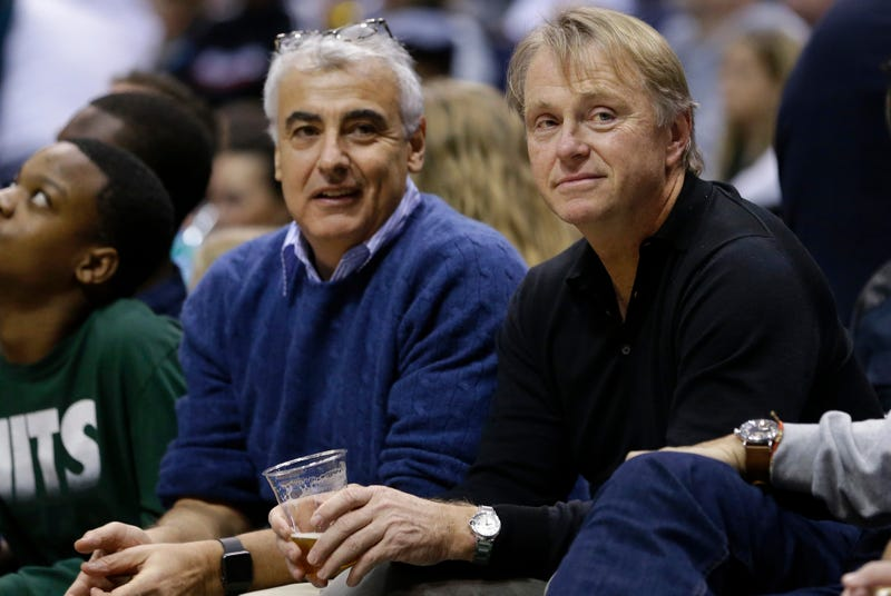 Bucks co-owners Mark Lasry and Wes Edens. Photo credit: Aaron Gash/AP Images.