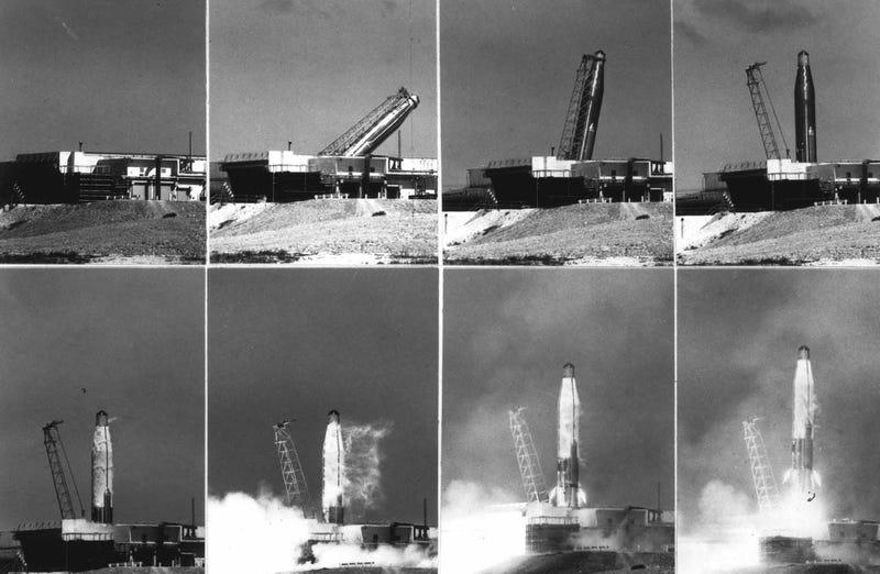 Lanzamiento del ICBM Atlas. Wikimedia Commons
