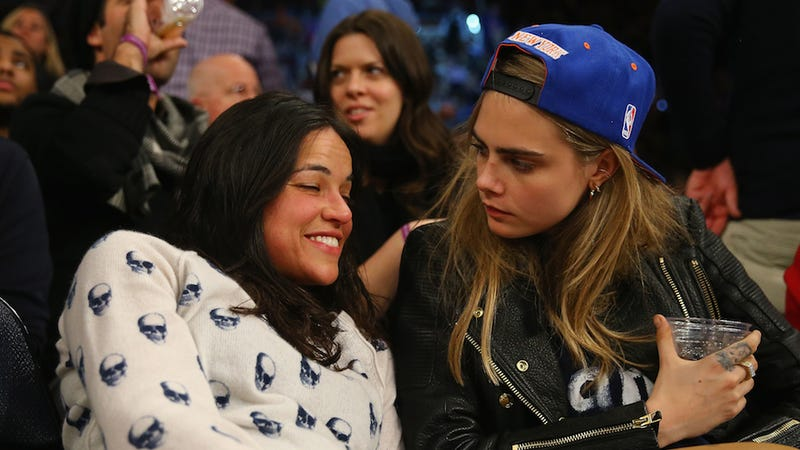 Illustration for article titled Michelle Rodriguez Confirms Dating Cara Delevingne: 'She's So Cool'
