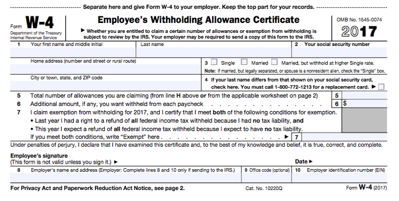 A Beginners Guide to Filling out Your W4 – Irs Allowances Worksheet