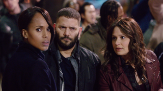 Olivia (Kerry Washington) gets out of a jam with a little help from Huck (Guillermo Diaz) and Quinn (Katie Lowes).ABC