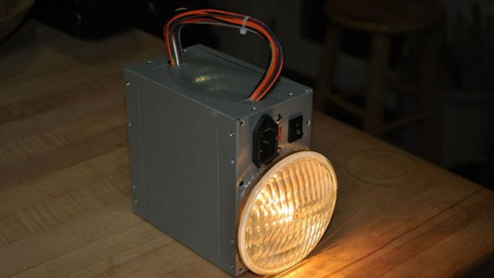 hack a dead pc power supply into a rechargeable lantern. Black Bedroom Furniture Sets. Home Design Ideas