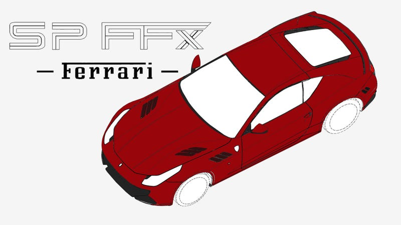 Illustration for article titled The Ferrari SP FFX: Ferrari's (Probably) All-Wheel-Drive Supercoupe