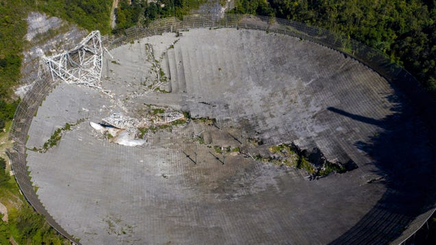 Gut-Wrenching Photos Show Damage at Arecibo Observatory Following Collapse