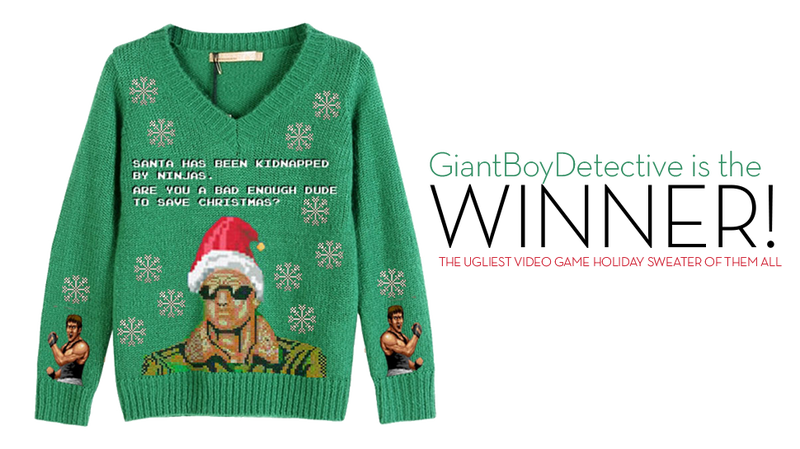 Illustration for article titled Kotaku'Shop Contest: The Ultimate Holiday Gaming Sweater: Winners!
