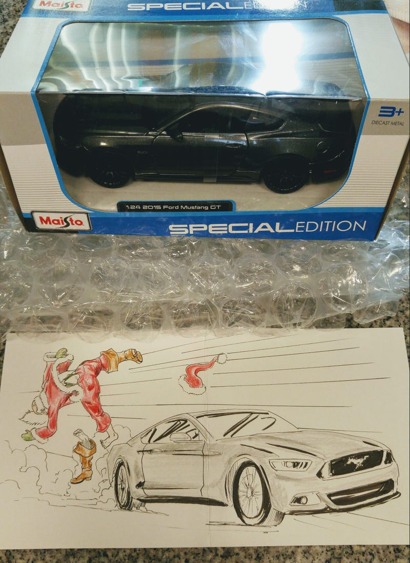 Illustration for article titled Secret Senna Gift- Mustang Edition