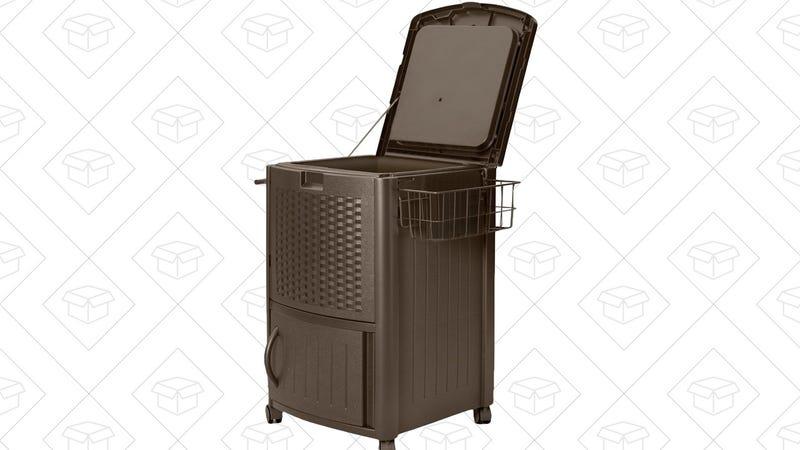 Suncast Resin Wicker Cooler, $44
