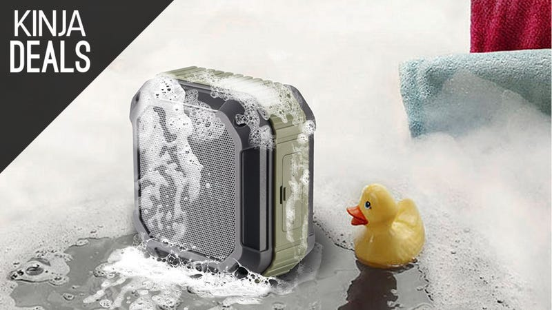 Illustration for article titled Bring Your Tunes to the Tub With This $19 Waterproof Bluetooth Speaker