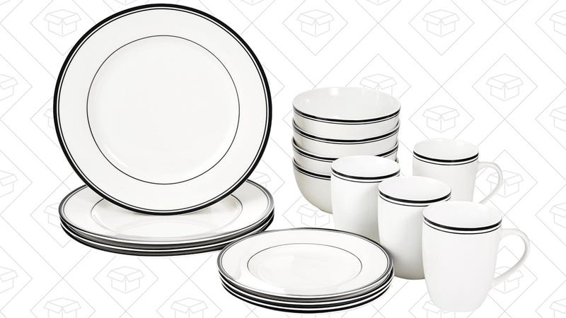 AmazonBasics 16-Piece Dinnerware Set, $17