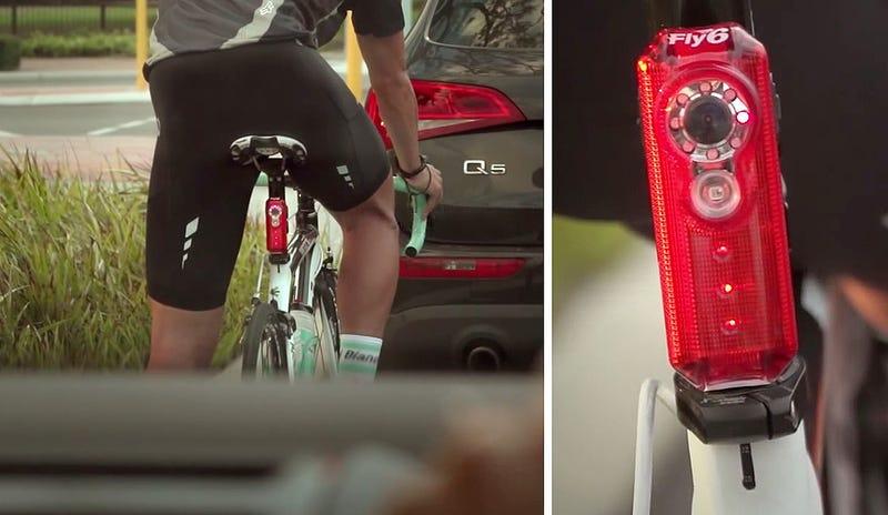Una cámara para bicis que delata a los coches infractores