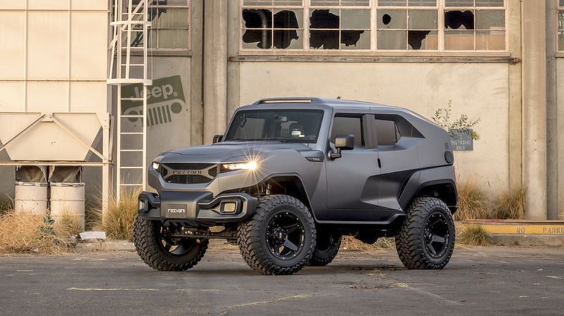 The Rezvani Tank Is A 178 000 Jeep Wrangler Unlimited Doing Sci Fi
